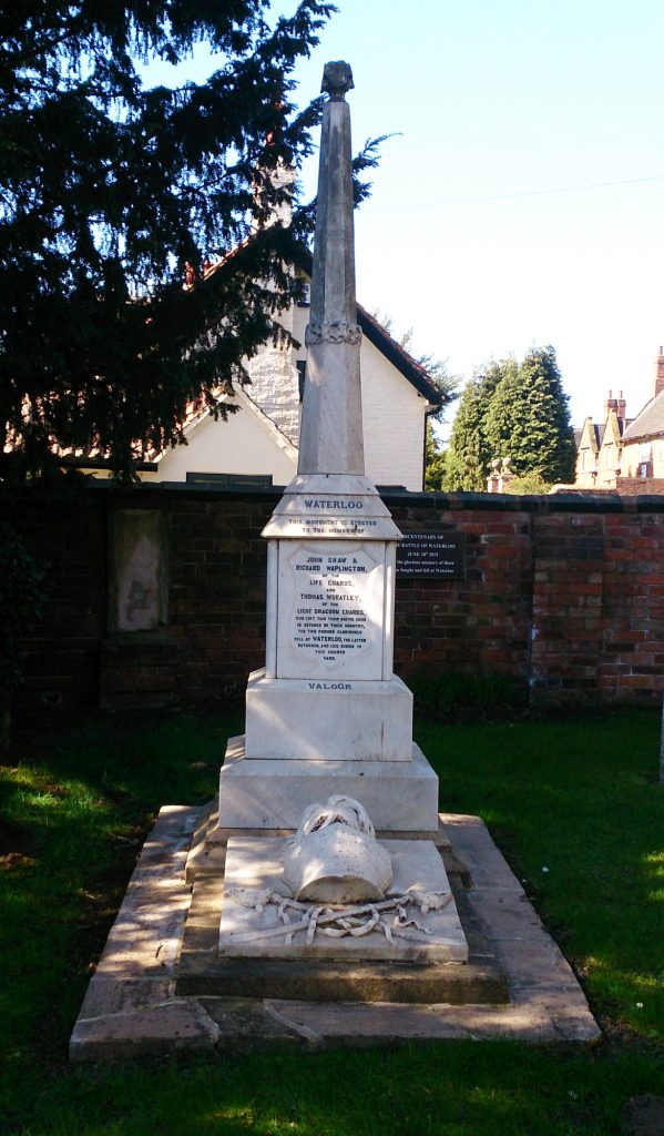 Photo of Waterloo memorial in Cossall churchyard