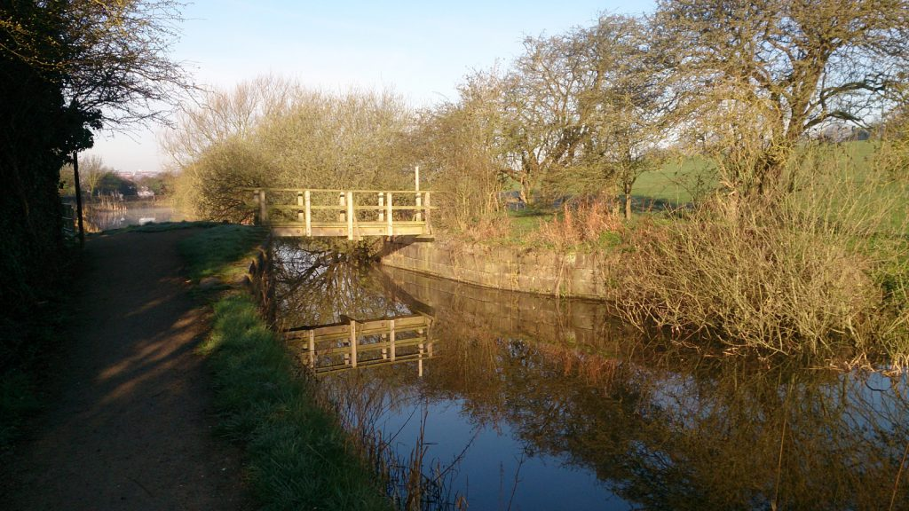 Photo of a footbridge over the Nottingham Canal, Cossall