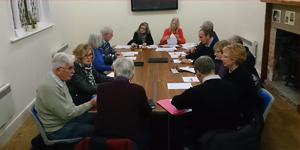 Photo of members of the Cossall Parish Council in a meeting