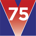 Victory in Europe 75 years on logo