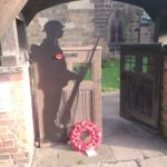 image of soldier at church remembrance day 2020